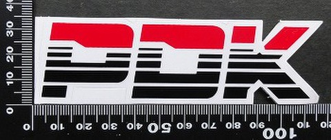 ピーディーケー PDK Racing ステッカー 05582