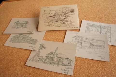 「北の国から」イラストポストカード(モノクロ)5枚組
