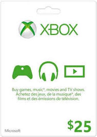 【北米版】XBOX ONE マイクロソフトポイント $25