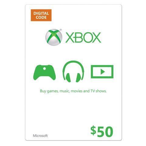 【北米版】XBOX ONE マイクロソフトポイント $50