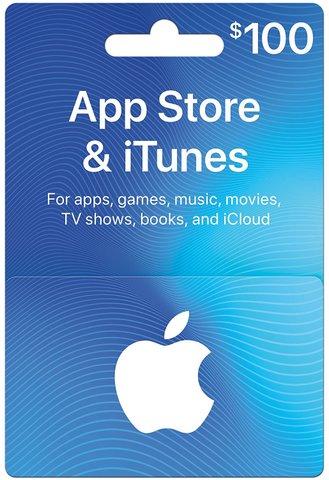 【北米版】ITUNES GIFT CARD $100 100ドル USA