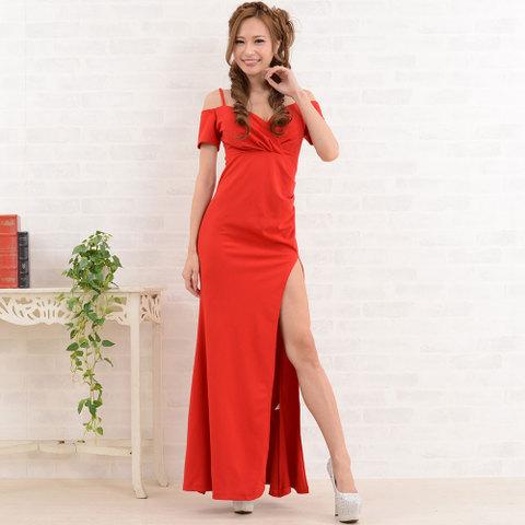 超ロングスリットドレス