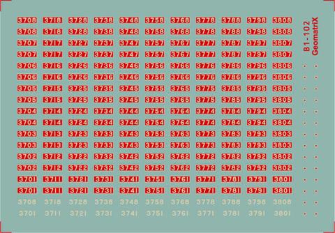 ●B1-102 3700形(3708~3808編成)