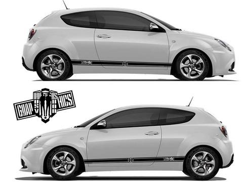 グラフィック デカール ステッカー 車体用 / アルファロメオ ミト / サイドドア ストライプ・ステッカー