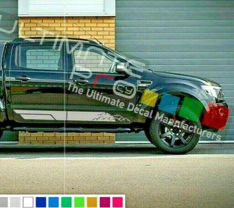 グラフィック デカール ステッカー 車体用 / フォード レンジャー T6 2013 2014 2015 2016 2017 2019 / サイドドア ストライプステッカー