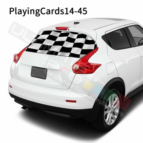グラフィック デカール ステッカー 車体用 / 日産 ジューク 2020 / リアウィンドウ トランプデカール