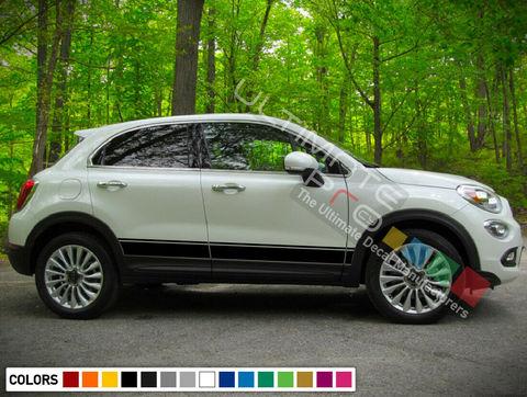 グラフィック デカール ステッカー 車体用 / フィアット 500X / サイドドア ストライプステッカー
