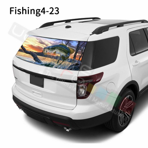 グラフィック デカール ステッカー 車体用 / フォード エクスプローラー / リアウィンドウ フィッシングデザイン