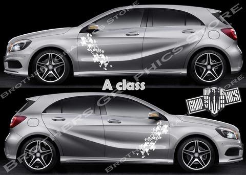 グラフィック デカール ステッカー 車体用 / メルセデスベンツ Aクラス / 2X ストライプ・ステッカー