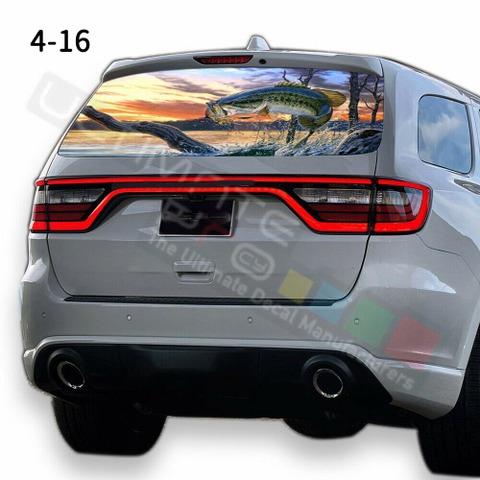 グラフィック デカール ステッカー 車体用 / ダッジ デュランゴ 2020 / リアウィンドウ フィッシングデザイン