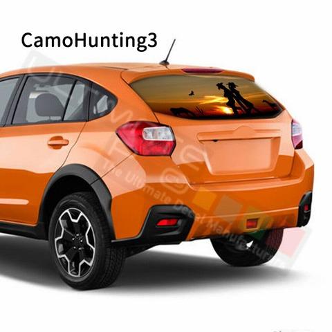 グラフィック デカール ステッカー 車体用 / スバル XV / リアウィンドウ カモハンティングデザイン