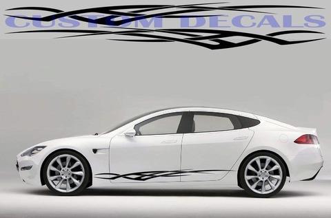 グラフィック デカール ステッカー 車体用 / テスラ モデル3 モデルX モデルY モデルS / トライバル・ステッカー