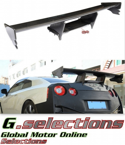G.selections / 日産 R35 GT-R GTR  / カーボン ファイバー トランク ウィング スポイラー LED +