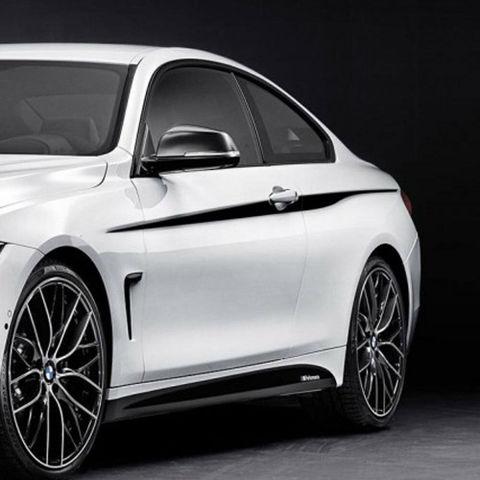 グラフィック デカール ステッカー 車体用 / BMW 4シリーズ F32 / Mクーペ パフォーマンスアクセントストライプサイドストライプグラフィックス