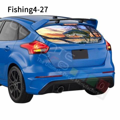 グラフィック デカール ステッカー 車体用 / フォード フォーカス 2019 / リアウィンドウ フィッシングデザイン