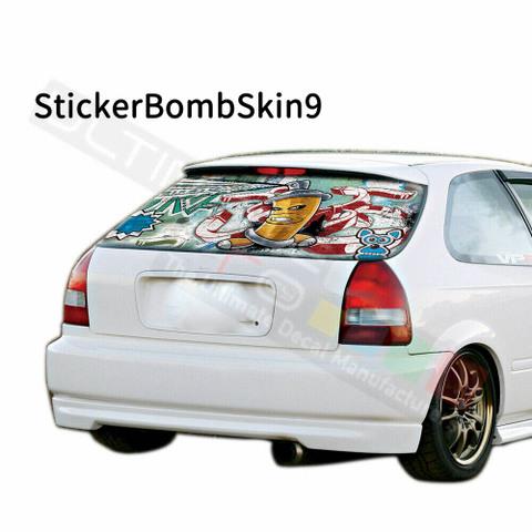 グラフィック デカール ステッカー 車体用 / ホンダ シビック 1996 / リアウィンドウ ボムスキンデザイン