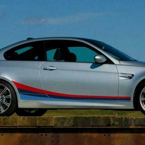 グラフィック デカール ステッカー 車体用 / BMW 3シリーズ E92 2004-2013 / クーペMパフォーマンス サイドストライプグラフィック ステッカーデカール