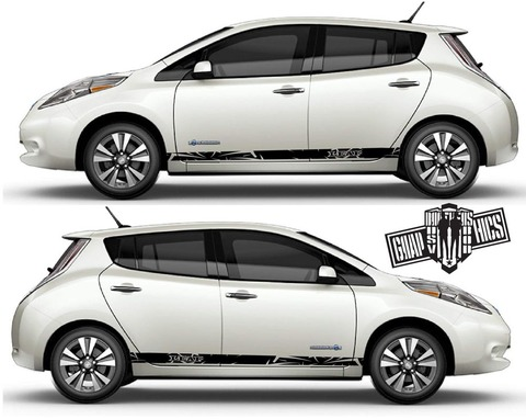 グラフィック デカール ステッカー 車体用 / 日産 リーフ / サイドドア ストライプ・ステッカー
