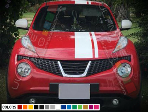 グラフィック デカール ステッカー 車体用 / 日産 ジューク RS ニスモ / ストライプ フードステッカー