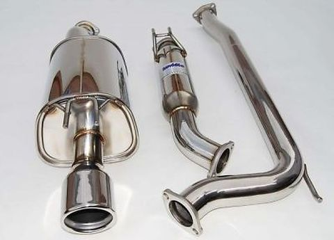 Honda Civic ホンダシビック Si 4-DR 2006-2011 Invidia Rolled Stainless Steel Tip CAT-BACK EXHAUST Q300 マフラー ステンレスエンド
