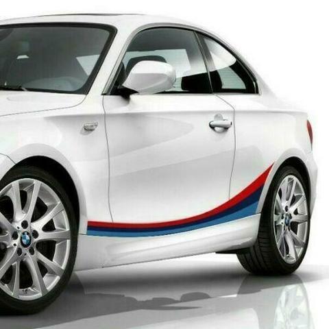 グラフィック デカール ステッカー 車体用 / BMW 1シリーズ E82 2004-2013 / クーペMパフォーマンス サイドストライプグラフィック ステッカーデカール