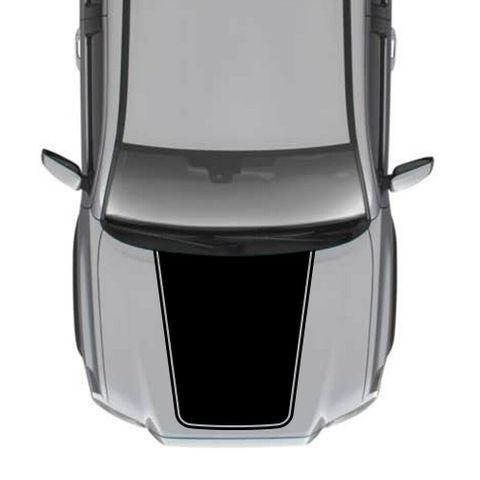 グラフィック デカール ステッカー 車体用 / トヨタ タコマ / 4x4 ストライプ フードデカール