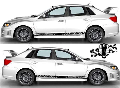 グラフィック デカール ステッカー 車体用 / スバル インプレッサ / ストライプ・ステッカー / 2