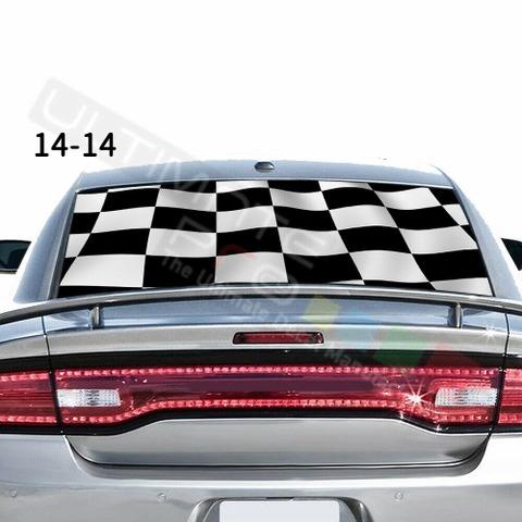 グラフィック デカール ステッカー 車体用 / ダッジ チャージャー 2020 / リアウィンドウ トランプステッカー