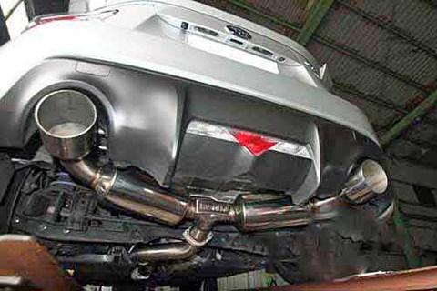 Invidia N2 キャタバックマフラー ストレートカット ポリッシュチップ スバル BRZ トヨタ 86 12-