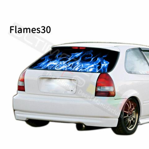 グラフィック デカール ステッカー 車体用 / ホンダ シビック 1996 / リアウィンドウ フレイムデザイン