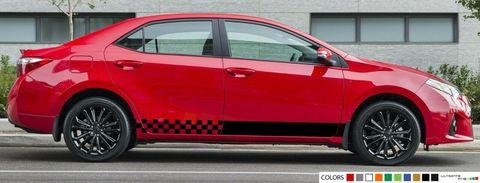 グラフィック デカール ステッカー 車体用 / トヨタ カローラ 2012 2013 2014 / ストライプステッカー