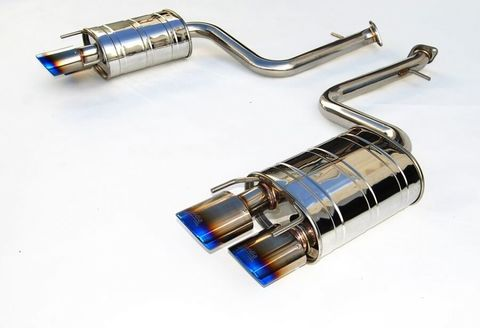 Lexus RC200t RC300 Turbo Invidia Titanium Tip CAT-BACK EXHAUST(Quad Oval) Q300 チタンエンドマフラー