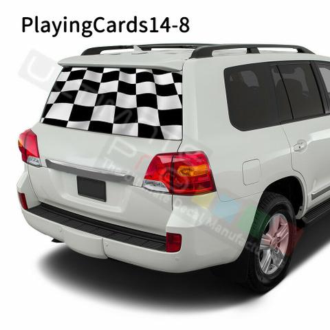 グラフィック デカール ステッカー 車体用 / トヨタ ランドクルーザー オールド / リアウィンドウ トランプステッカー