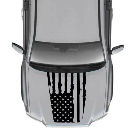 グラフィック デカール ステッカー 車体用 / トヨタ タコマ / 4x4 アメリカンフラッグ フードデカール