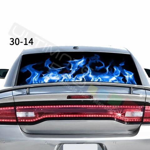 グラフィック デカール ステッカー 車体用 / ダッジ チャージャー 2020 / リアウィンドウ フレイムデザイン