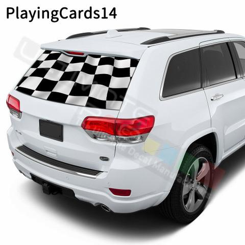 グラフィック デカール ステッカー 車体用 / ジープ グランドチェロキー / リアウインドウ トランプステッカー