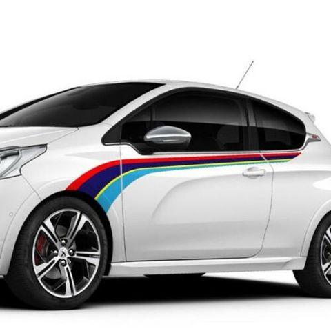 グラフィック デカール ステッカー 車体用 / プジョー 208Gti 2012-2020 / ラリー サイドストライプグラフィックデカール