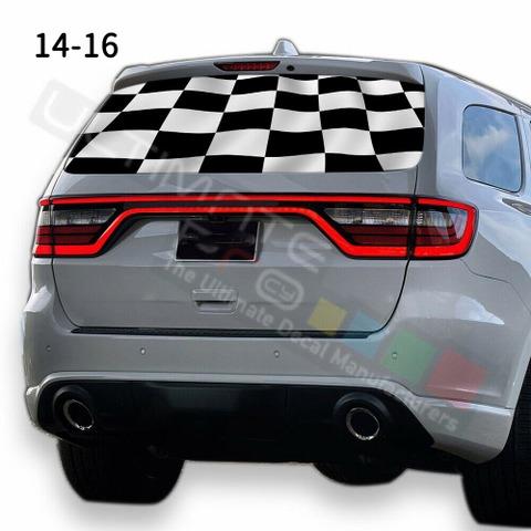グラフィック デカール ステッカー 車体用 / ダッジ デュランゴ / リアウィンドウ トランプデザイン