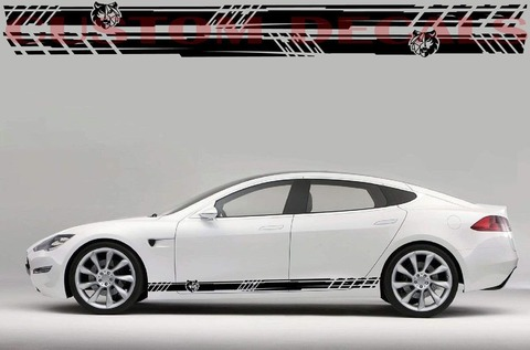 グラフィック デカール ステッカー 車体用 / テスラ モデル3 モデルX モデルY モデルS / ニュースタイル・ステッカー