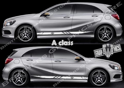 グラフィック デカール ステッカー 車体用 / メルセデスベンツ Aクラス / ストライプ グラフィック・ステッカー