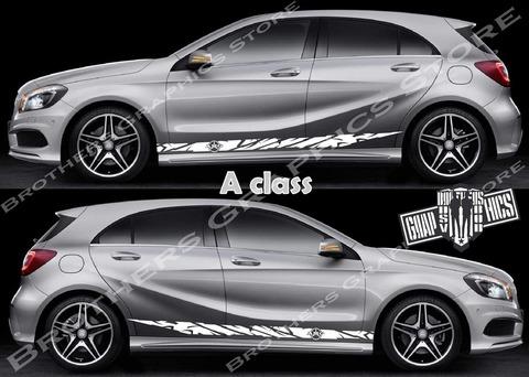 グラフィック デカール ステッカー 車体用 / メルセデスベンツ Aクラス / ライン ストライプ・ステッカー