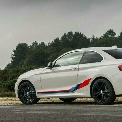 グラフィック デカール ステッカー 車体用 / BMW 2シリーズ F22 2013-2019 / クーペM パフォーマンス サイドストライプグラフィックス