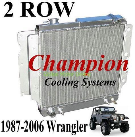 87-06 ジープ ラングラー Champion 2層 オールアルミ ラジエター   EC2101