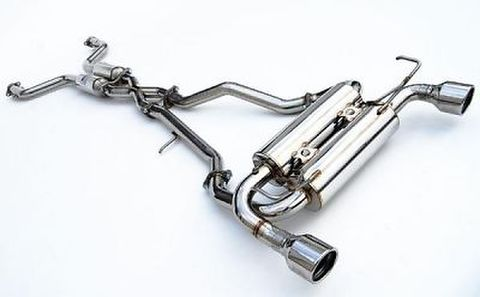 日産 フェアレディZ Z34 09-  Invidia Rolled Stainless Steel Tip Cat-Back Exhaust GEMINI ステンレスエンドマフラー