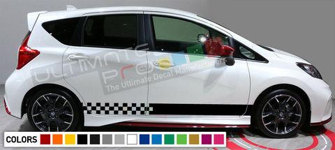 グラフィック デカール ステッカー 車体用 / 日産 ノート 2008 2009 2011 2012 2013 2014 2015 2016 / ストライプステッカー