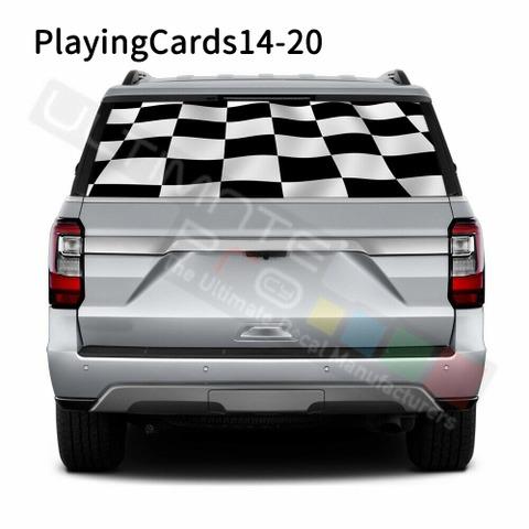 グラフィック デカール ステッカー 車体用 / フォード エクスペディション 2020 / リアウィンドウ トランプステッカー