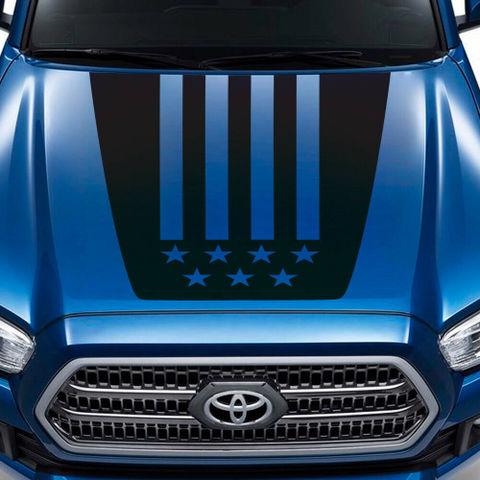 グラフィック デカール ステッカー 車体用 / トヨタ タコマ / TRDスポーツ アメリカ国旗スタイル フードデカール