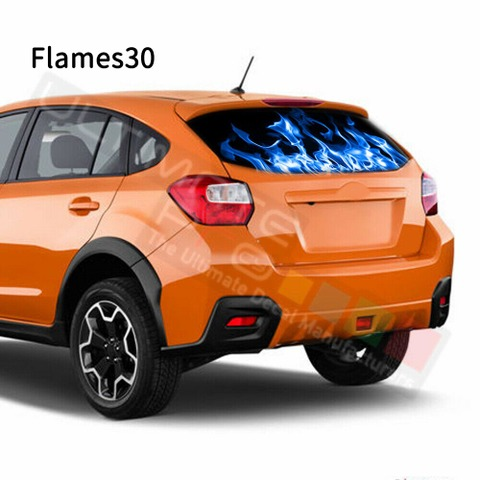 グラフィック デカール ステッカー 車体用 / スバル XV 2017 / リアウィンドウ フレイムデザイン