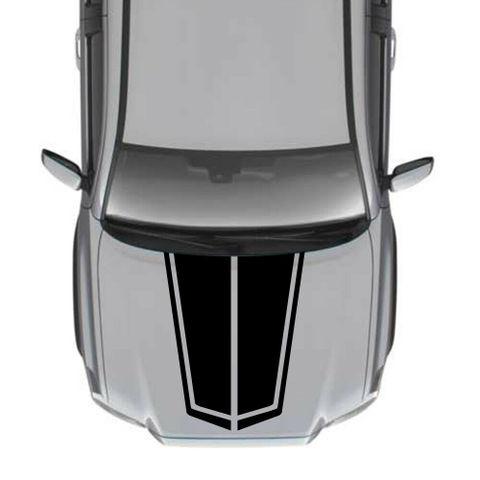 グラフィック デカール ステッカー 車体用 / トヨタ タコマ 2018 / 4x4 ストライプ フードステッカーキット