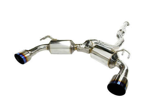 Mitsubishi Lancer Evolution X 2009- Invidia CAT-BACK EXHAUST(Racing) N1 レーシング マフラー チタンチップ